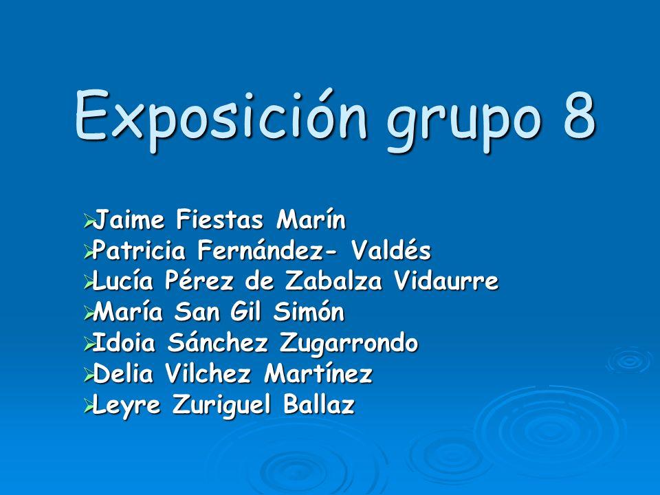 Exposición grupo 8 Jaime Fiestas Marín Patricia Fernández- Valdés