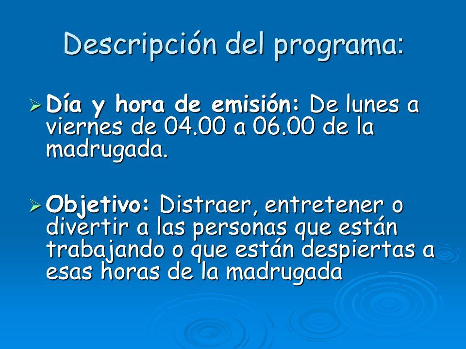 Descripción del programa: