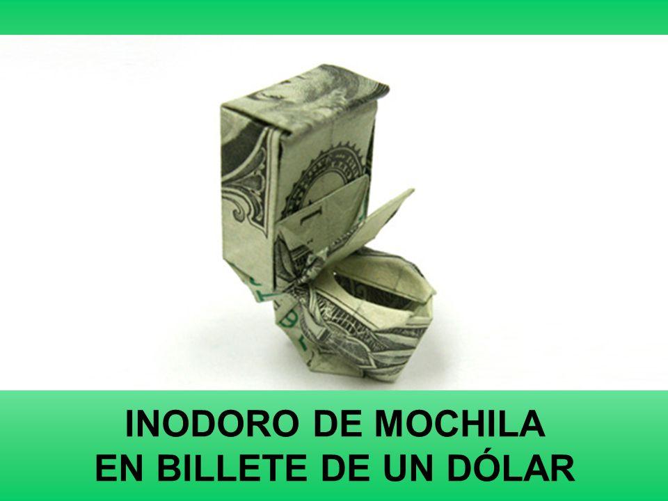 INODORO DE MOCHILA EN BILLETE DE UN DÓLAR