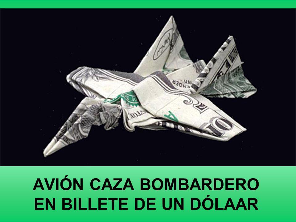 AVIÓN CAZA BOMBARDERO EN BILLETE DE UN DÓLAAR