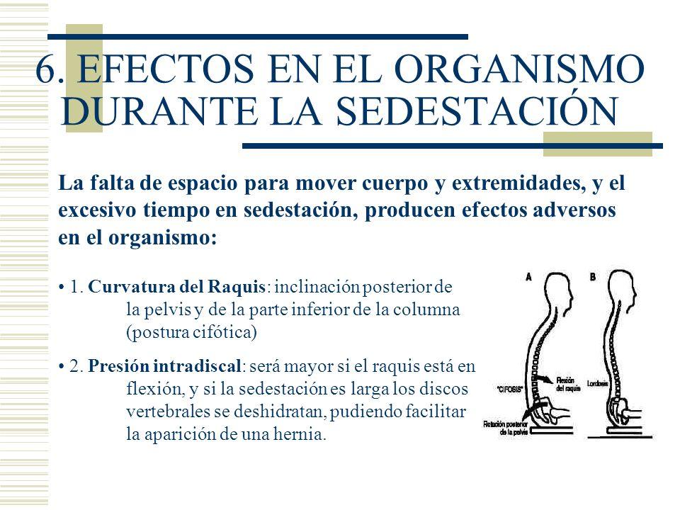 6. EFECTOS EN EL ORGANISMO DURANTE LA SEDESTACIÓN