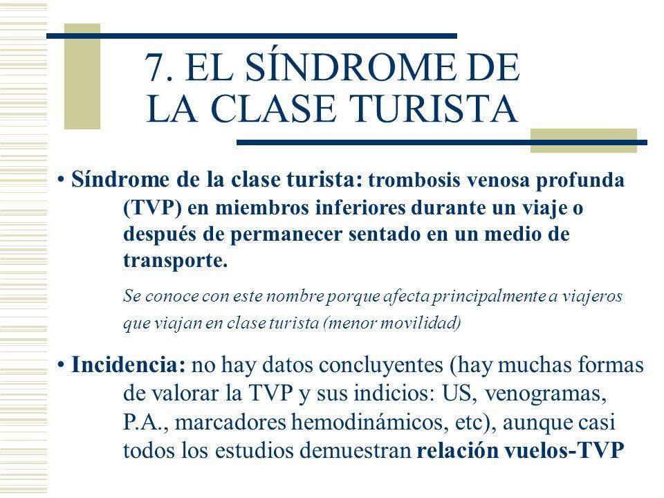 7. EL SÍNDROME DE LA CLASE TURISTA