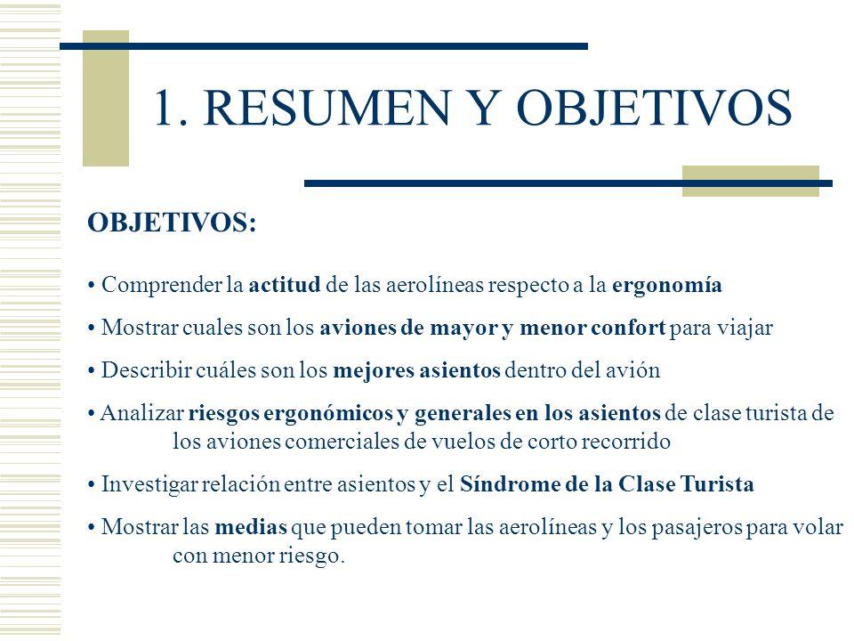 1. RESUMEN Y OBJETIVOS OBJETIVOS: