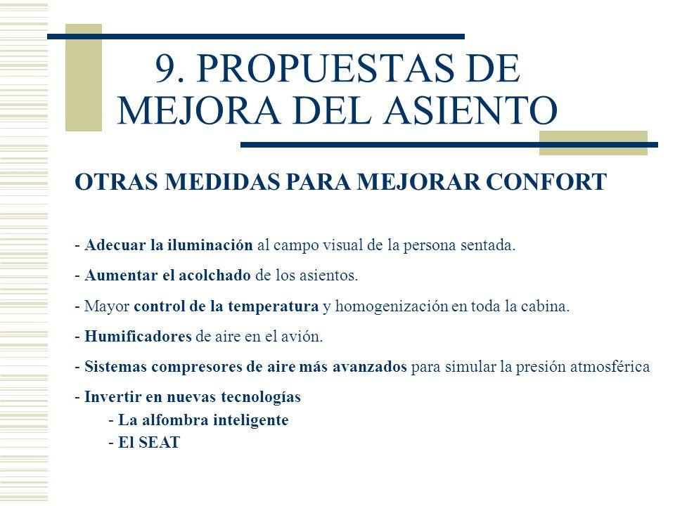 9. PROPUESTAS DE MEJORA DEL ASIENTO