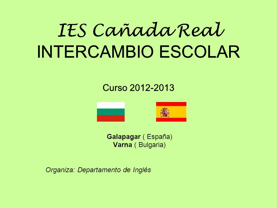 IES Cañada Real INTERCAMBIO ESCOLAR Curso 2012-2013