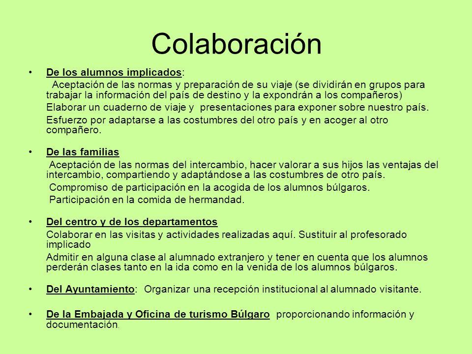 Colaboración De los alumnos implicados:
