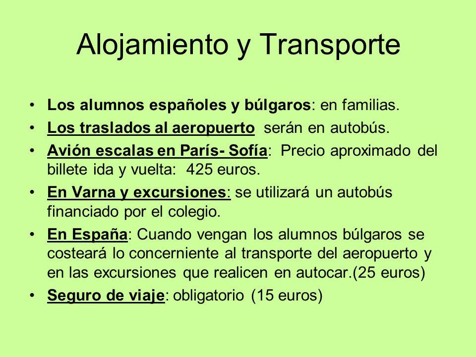 Alojamiento y Transporte