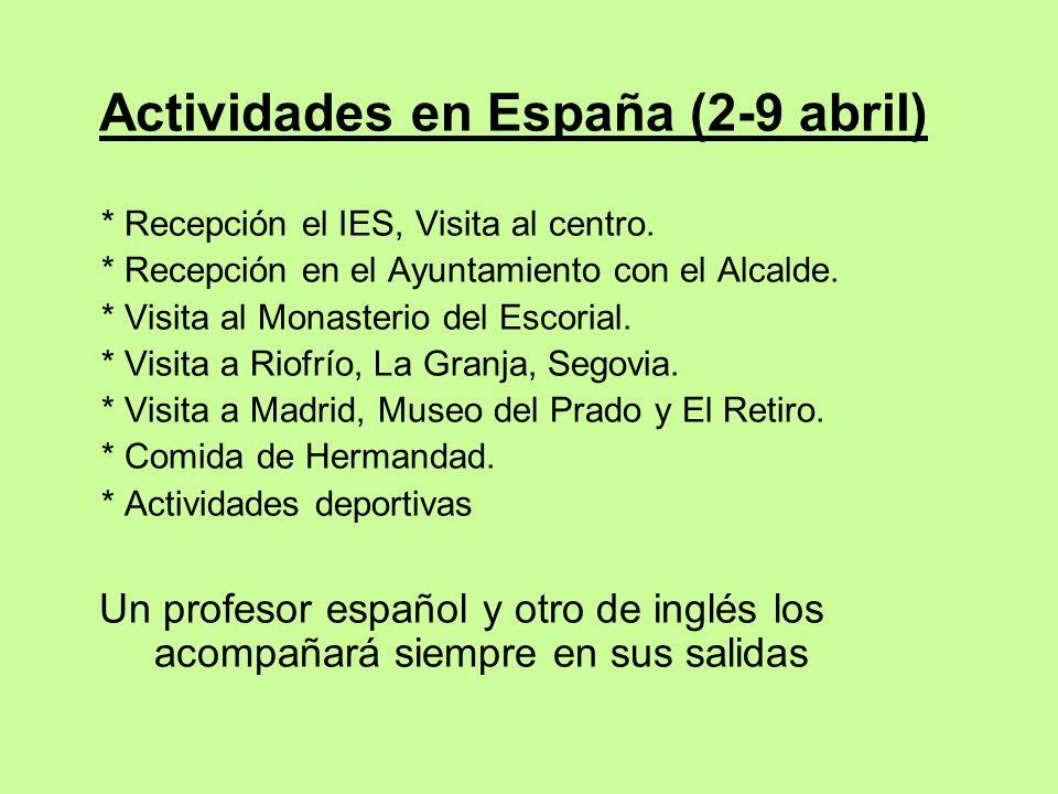 Actividades en España (2-9 abril)