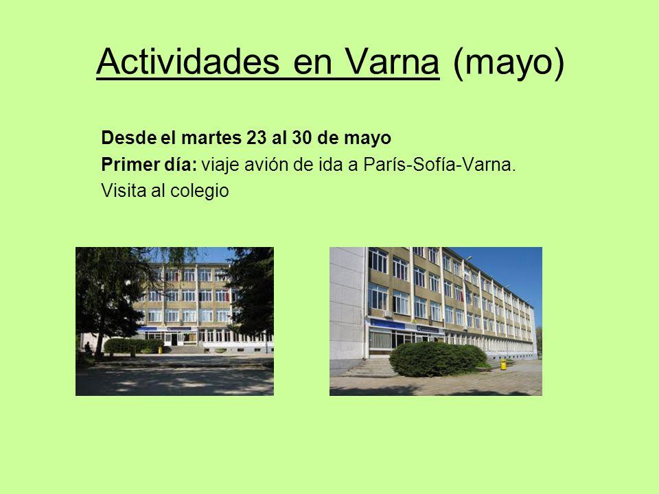 Actividades en Varna (mayo)