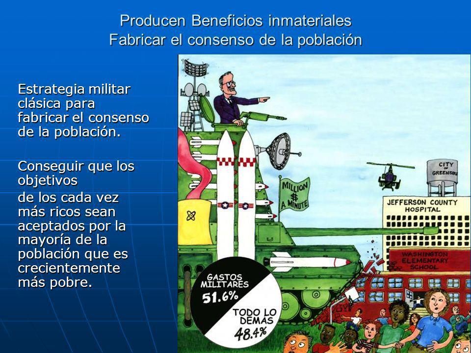 Producen Beneficios inmateriales Fabricar el consenso de la población