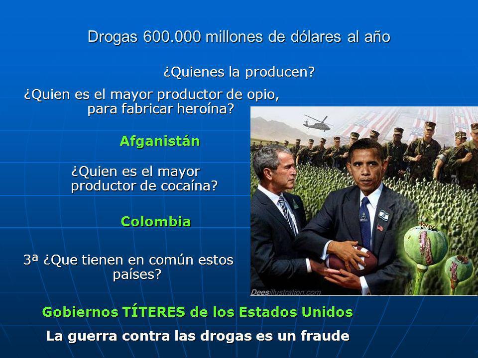 Drogas 600.000 millones de dólares al año
