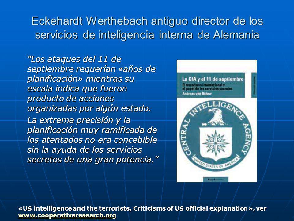 Eckehardt Werthebach antiguo director de los servicios de inteligencia interna de Alemania