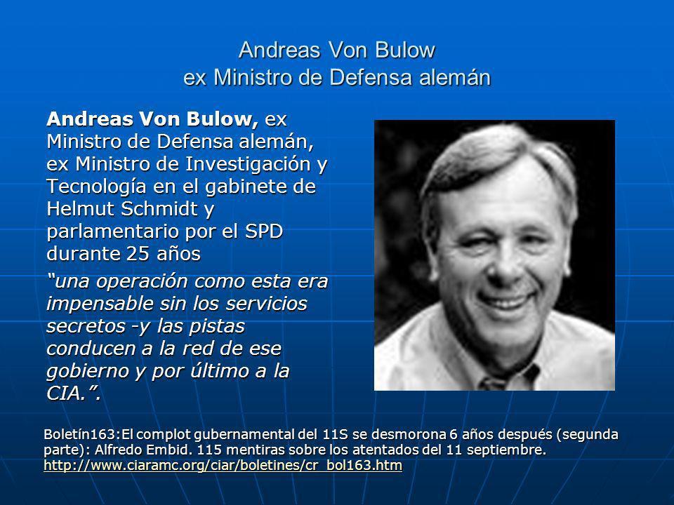 Andreas Von Bulow ex Ministro de Defensa alemán