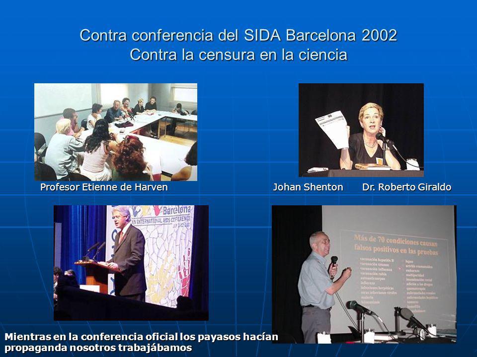 Contra conferencia del SIDA Barcelona 2002 Contra la censura en la ciencia