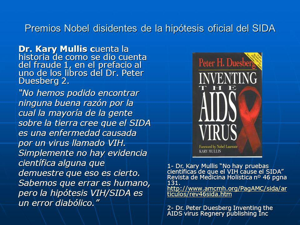 Premios Nobel disidentes de la hipótesis oficial del SIDA