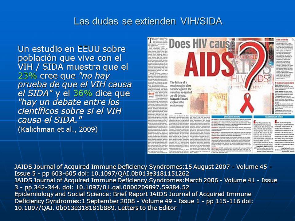 Las dudas se extienden VIH/SIDA