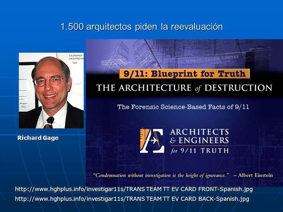 1.500 arquitectos piden la reevaluación
