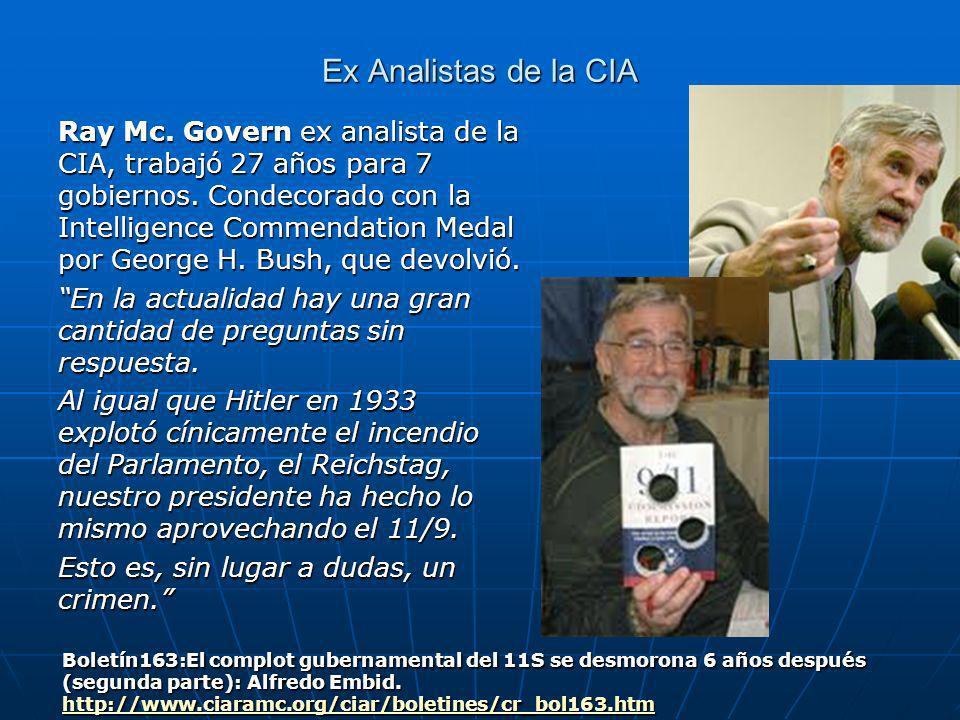 Ex Analistas de la CIA