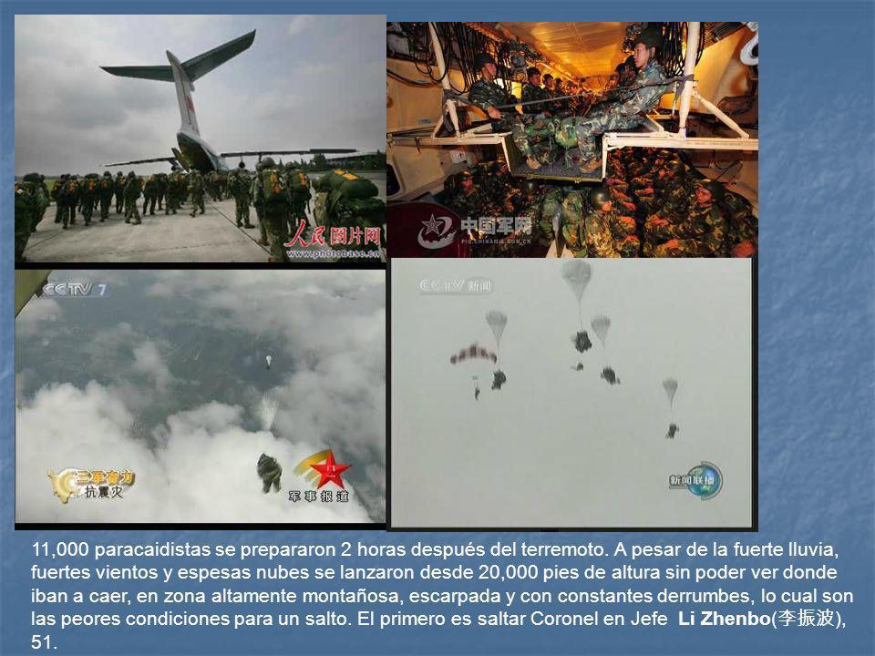 11,000 paracaidistas se prepararon 2 horas después del terremoto