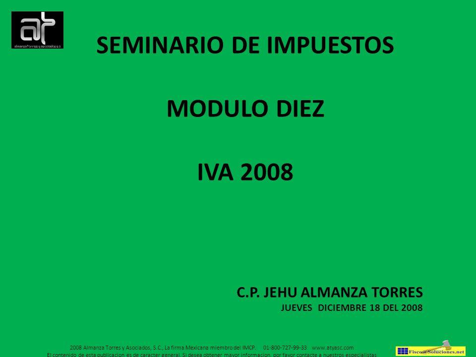 SEMINARIO DE IMPUESTOS