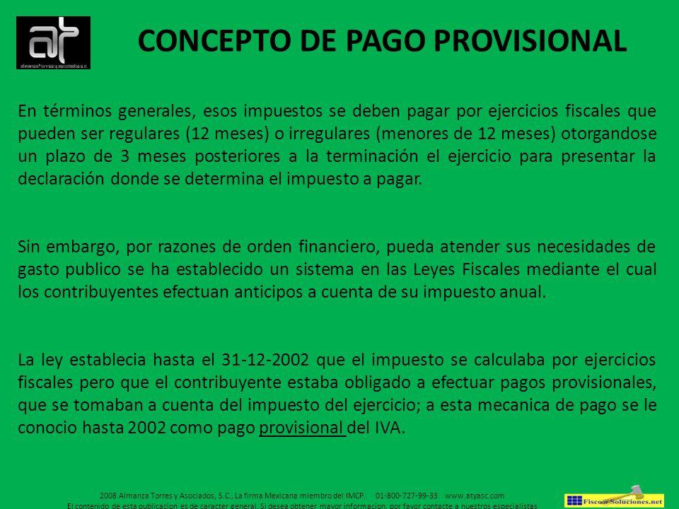 CONCEPTO DE PAGO PROVISIONAL
