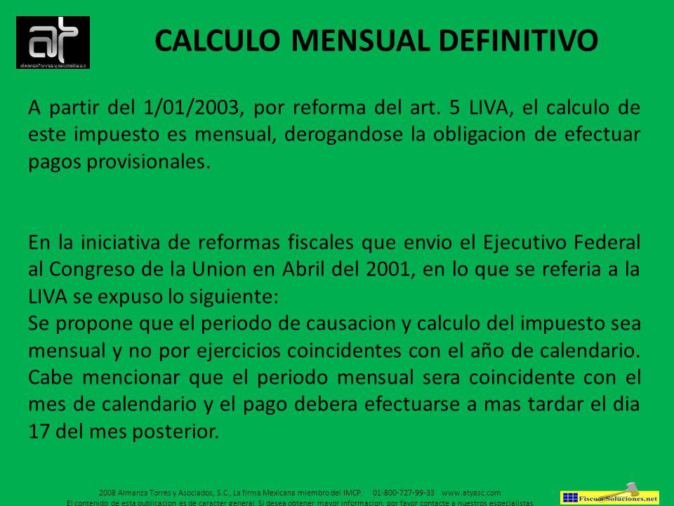 CALCULO MENSUAL DEFINITIVO