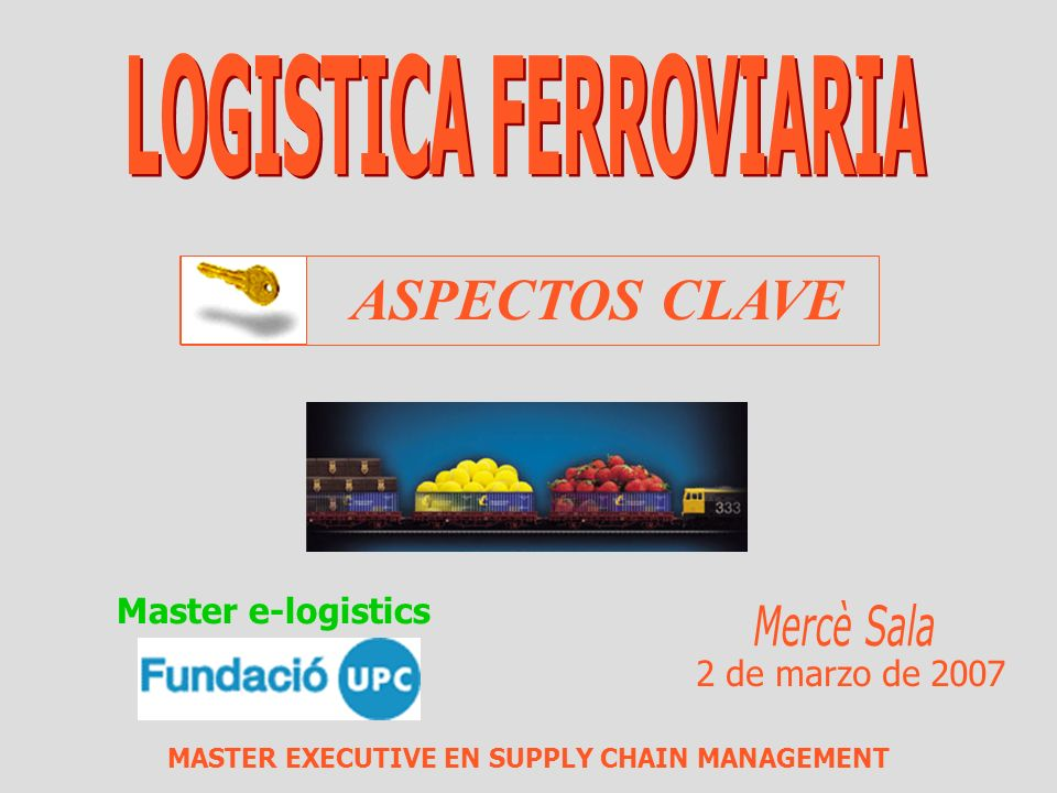 MASTER EXECUTIVE EN SUPPLY CHAIN MANAGEMENT