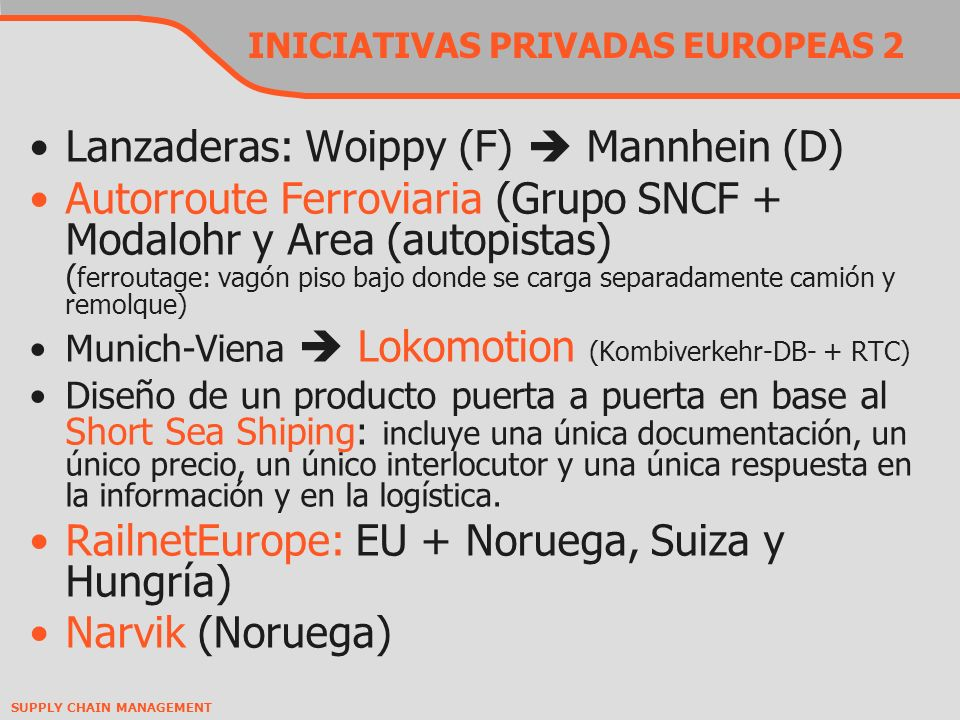 INICIATIVAS PRIVADAS EUROPEAS 2