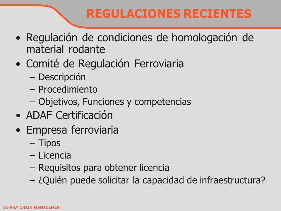 REGULACIONES RECIENTES