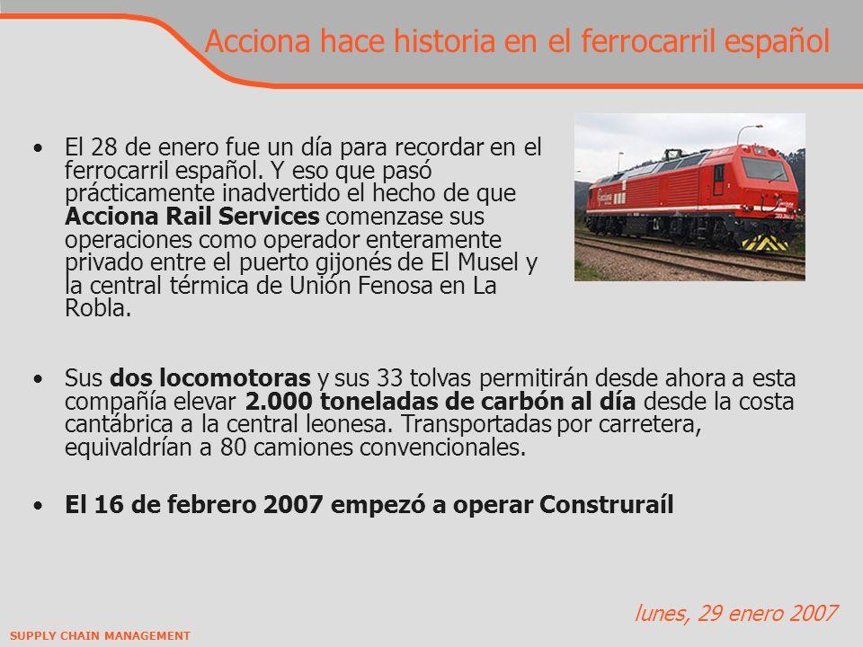 Acciona hace historia en el ferrocarril español