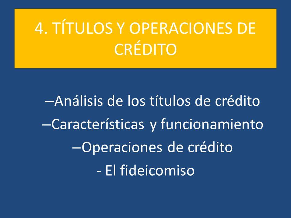4. TÍTULOS Y OPERACIONES DE CRÉDITO