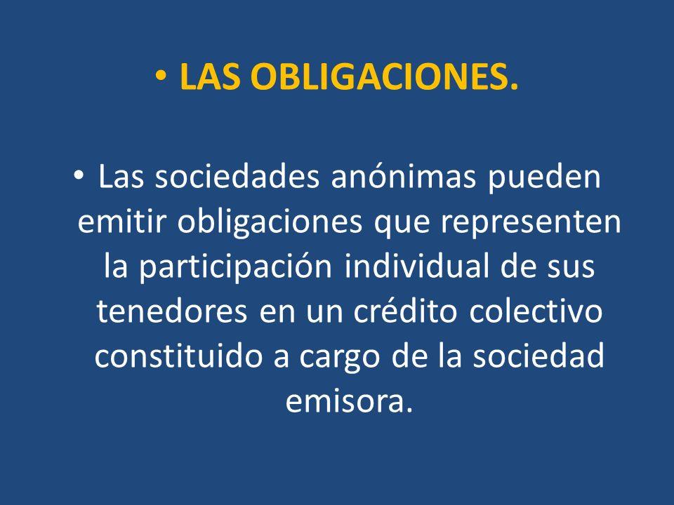 LAS OBLIGACIONES.