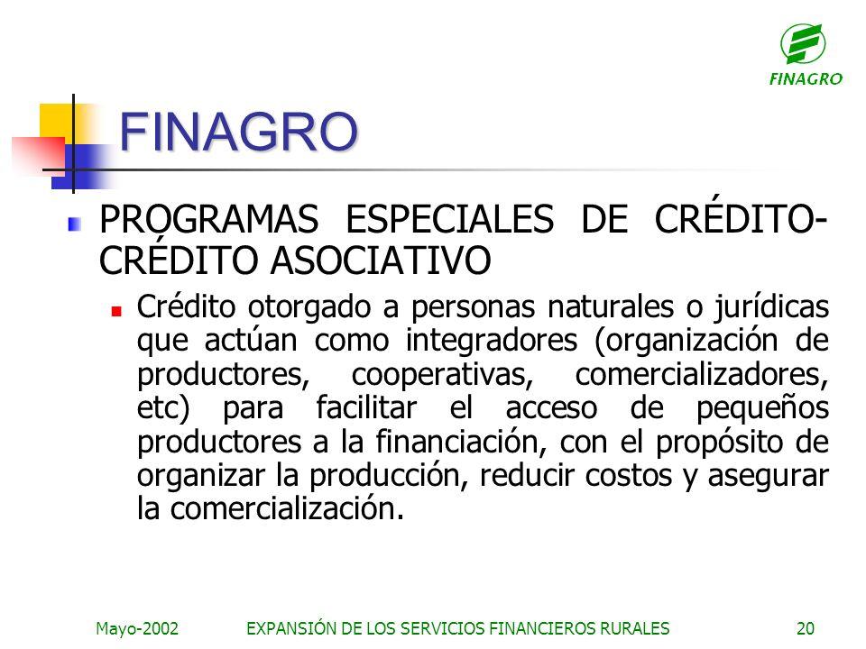 EXPANSIÓN DE LOS SERVICIOS FINANCIEROS RURALES
