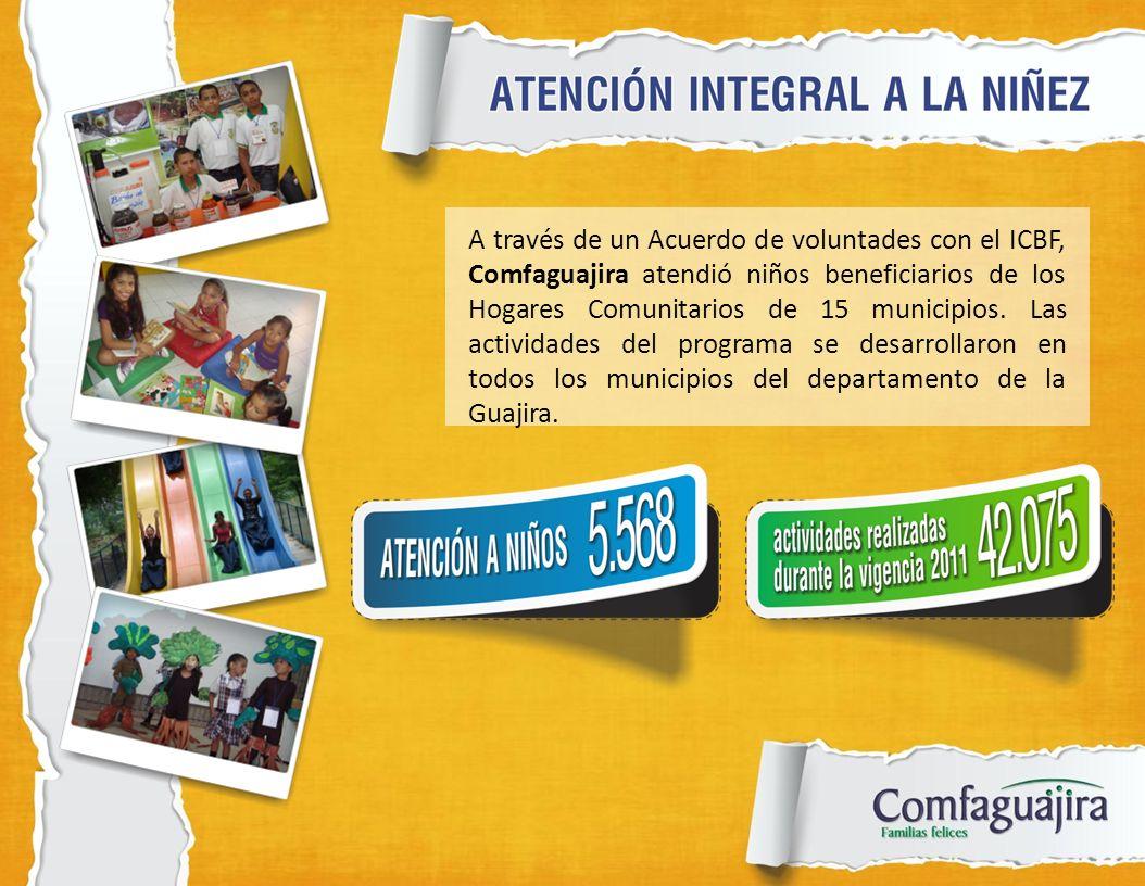 A través de un Acuerdo de voluntades con el ICBF, Comfaguajira atendió niños beneficiarios de los Hogares Comunitarios de 15 municipios.