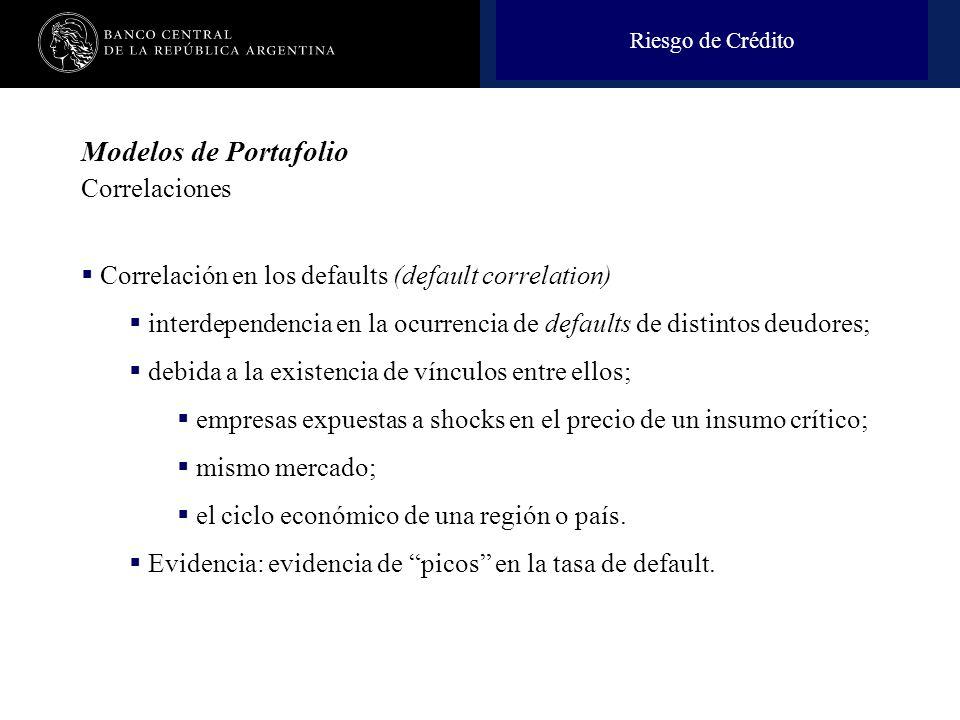 Modelos de Portafolio Correlaciones