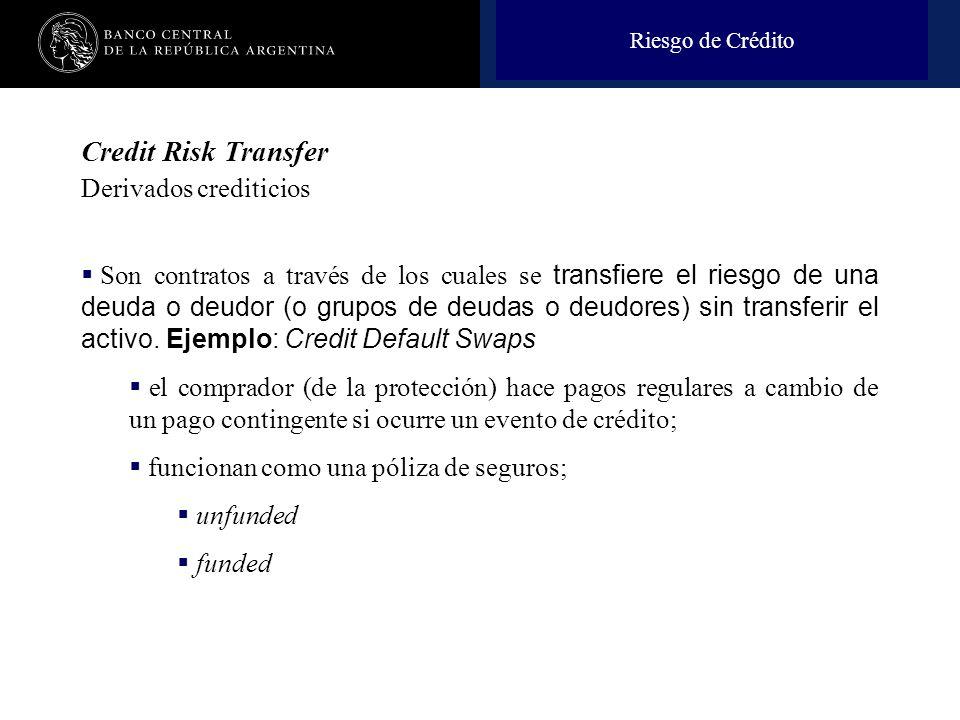 Credit Risk Transfer Derivados crediticios