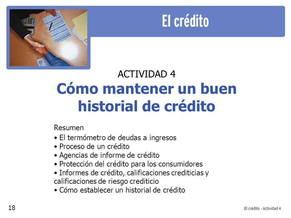 Cómo mantener un buen historial de crédito