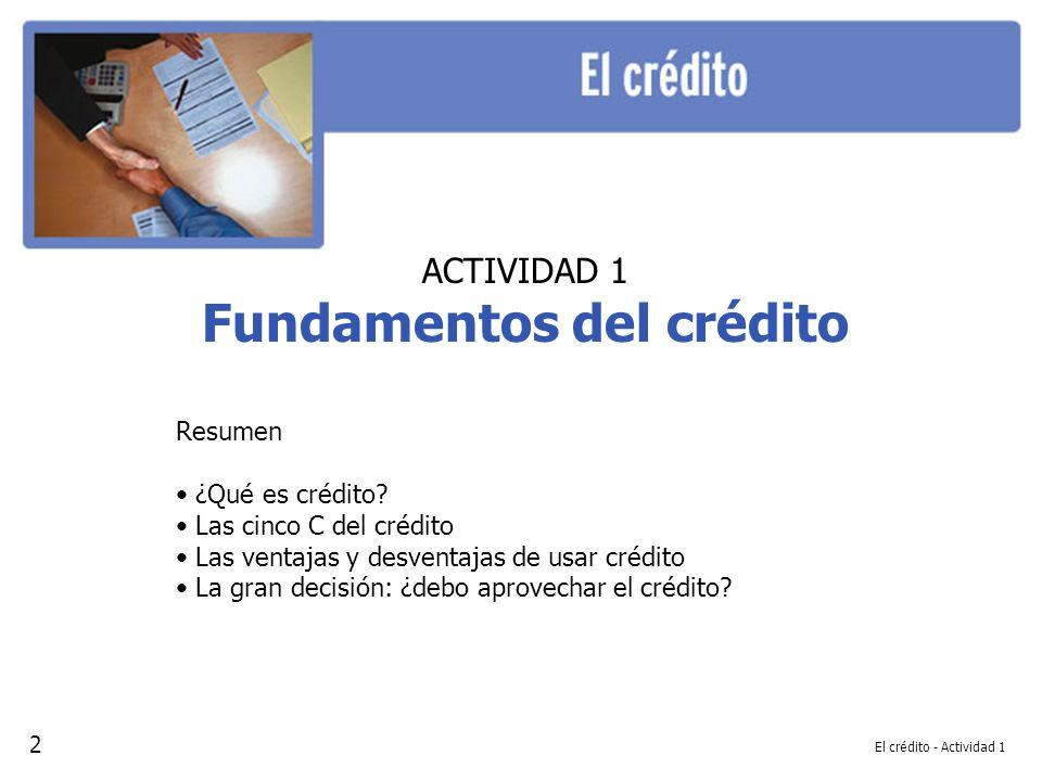 Fundamentos del crédito