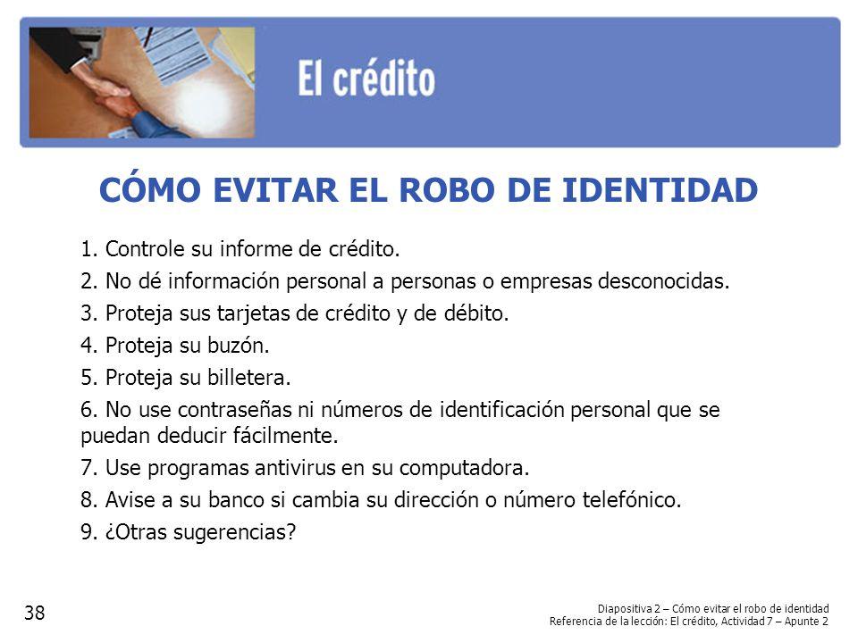 CÓMO EVITAR EL ROBO DE IDENTIDAD