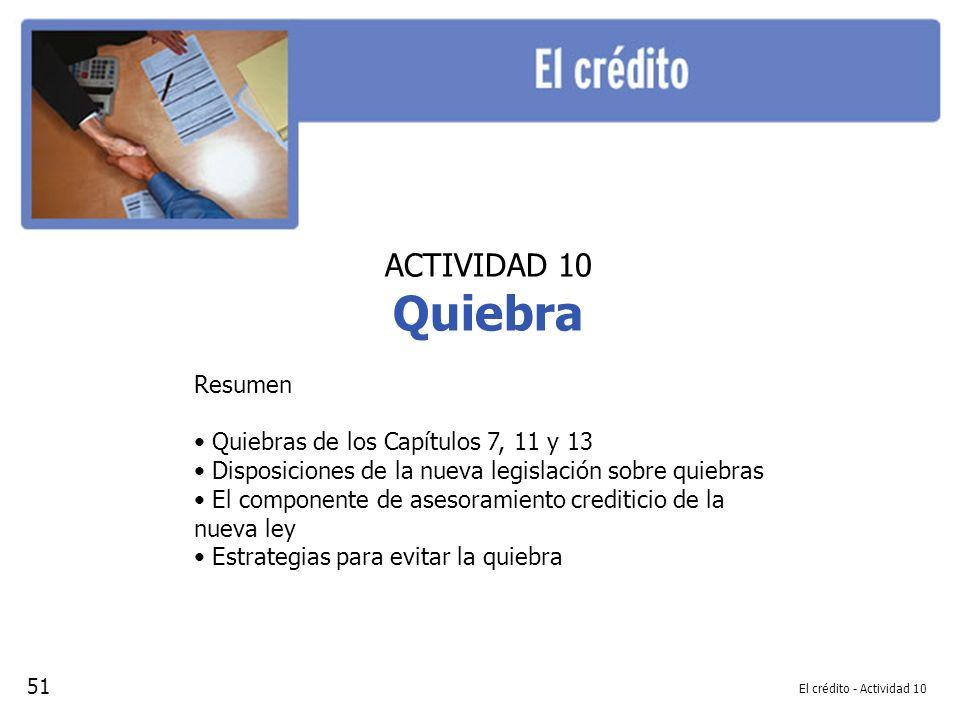 Quiebra ACTIVIDAD 10 Resumen Quiebras de los Capítulos 7, 11 y 13