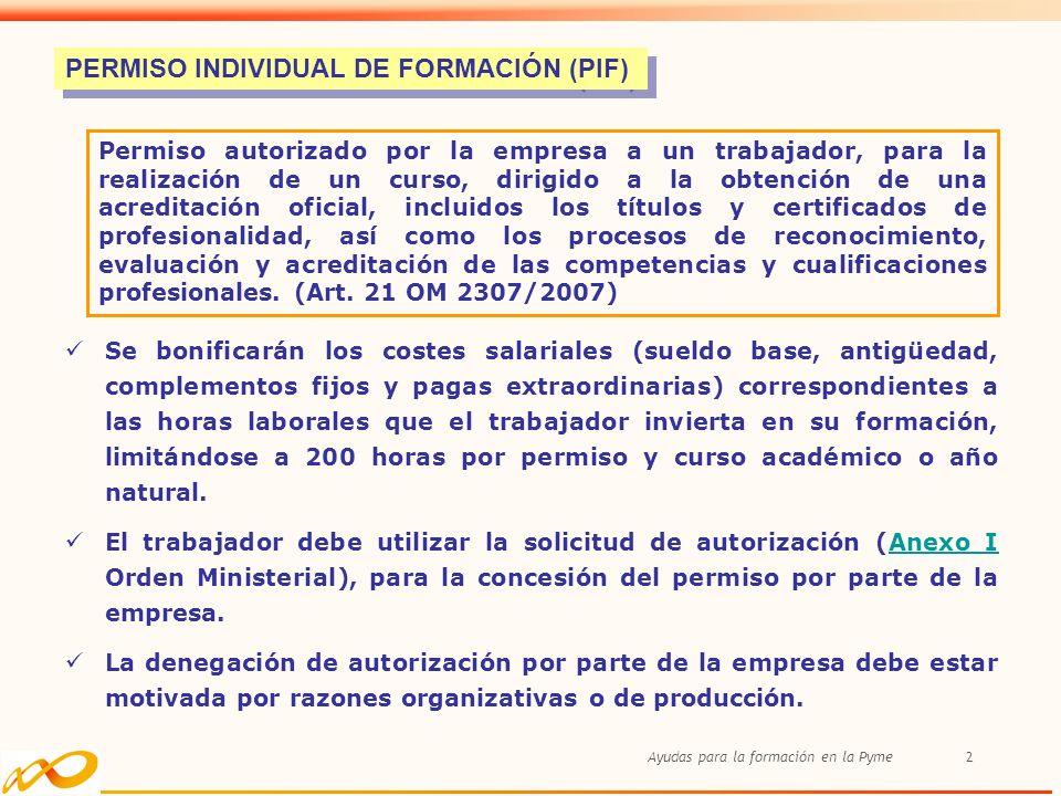 PERMISO INDIVIDUAL DE FORMACIÓN (PIF)
