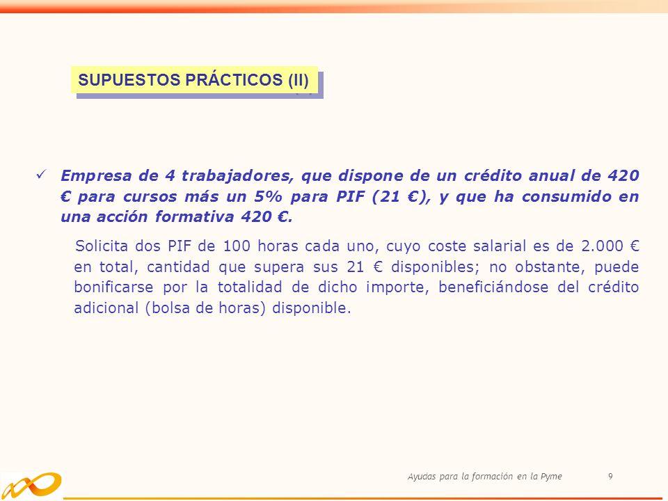 SUPUESTOS PRÁCTICOS (II)