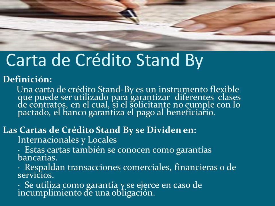 Carta de Crédito Stand By