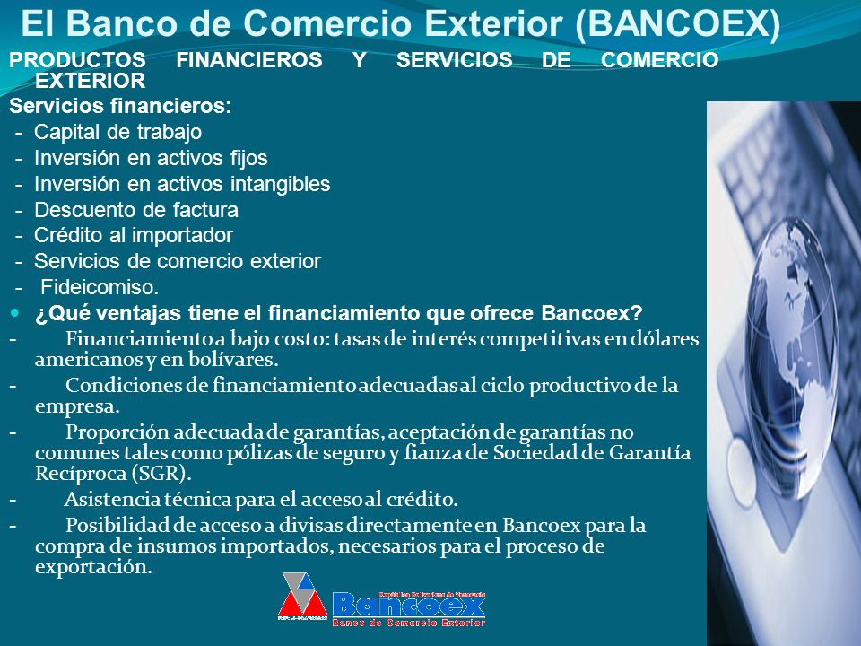 El Banco de Comercio Exterior (BANCOEX)
