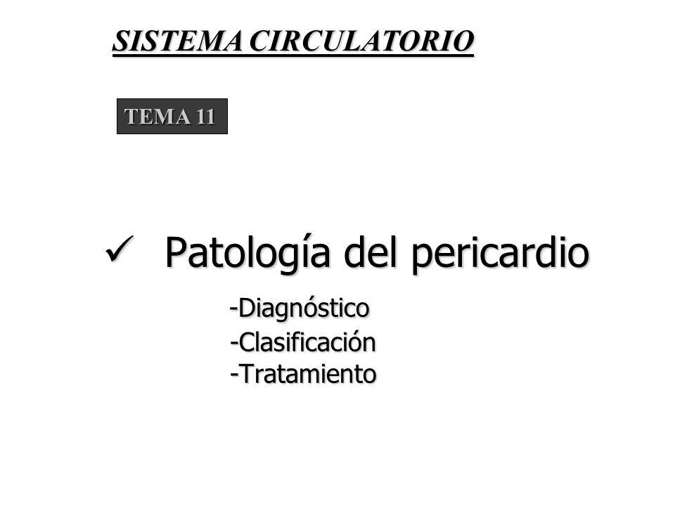 Patología del pericardio -Diagnóstico -Clasificación -Tratamiento
