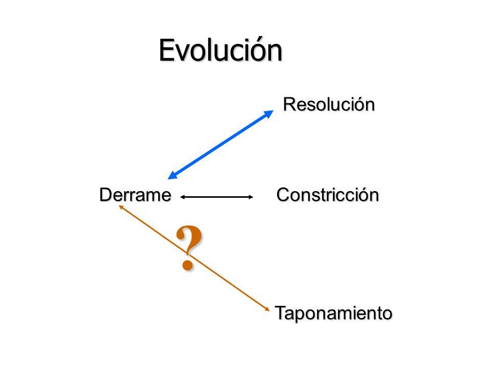 Evolución Resolución Derrame Constricción Taponamiento