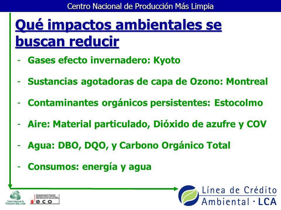 Qué impactos ambientales se buscan reducir