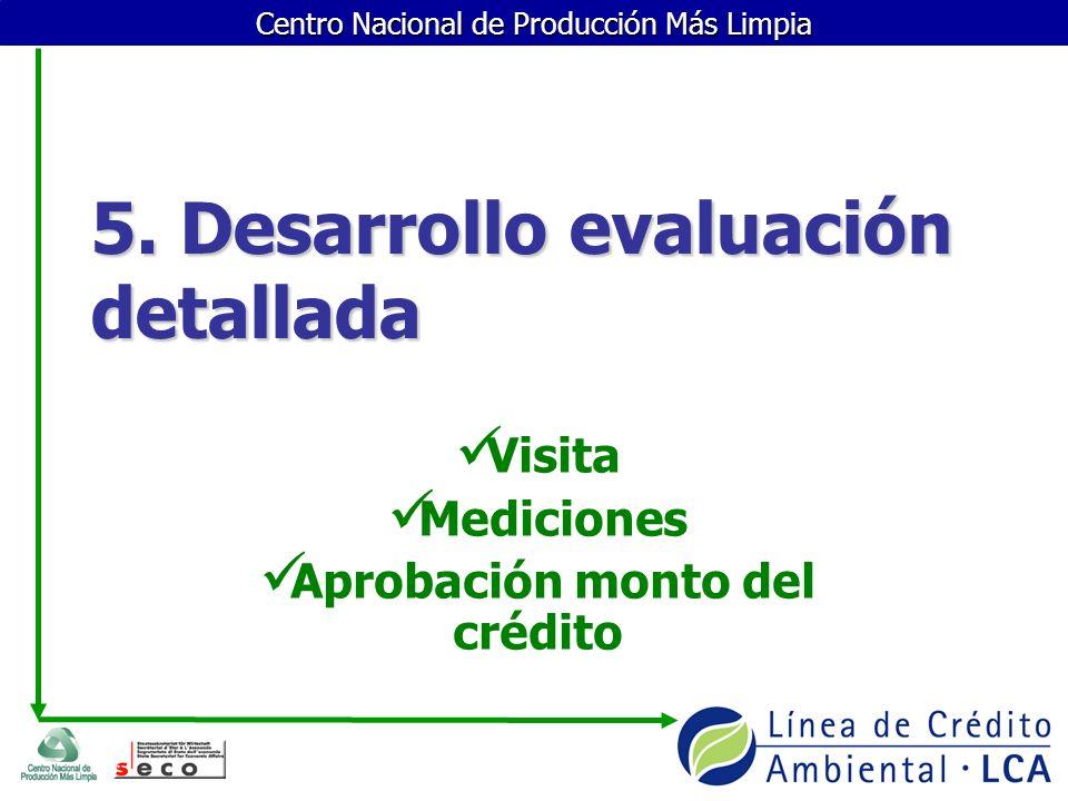 5. Desarrollo evaluación detallada