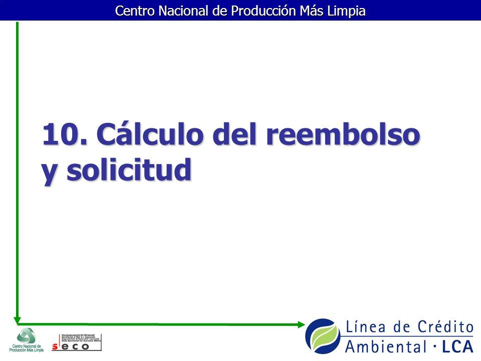 10. Cálculo del reembolso y solicitud