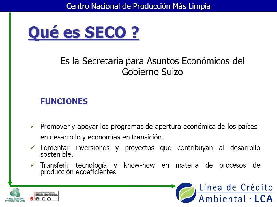 Es la Secretaría para Asuntos Económicos del Gobierno Suizo
